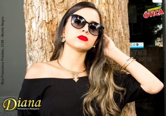 d07efbe86 Loja Diana Perfumaria, Relojoaria e Ótica possui lindos óculos de sol