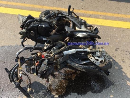 Jovem de 18 anos morre em grave acidente na BR 421 de Monte Negro, em Rondônia