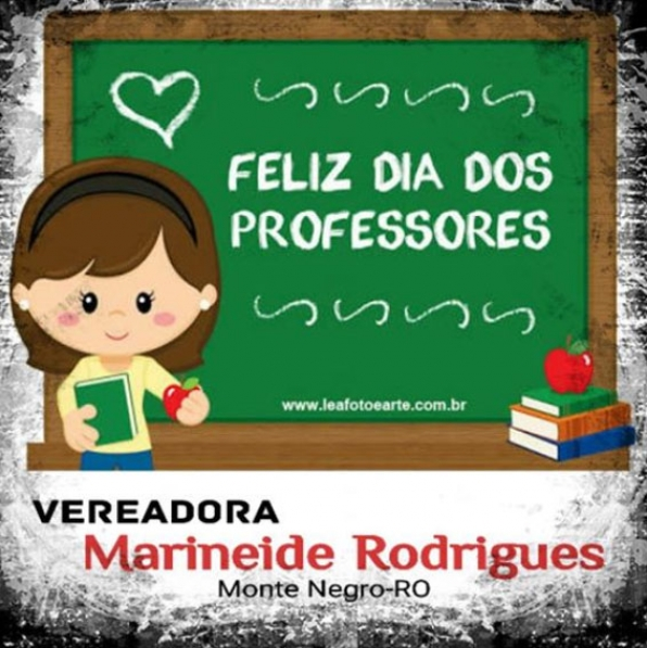 Monte Negro: Vereadora Marineide Rodrigues homenageia professores