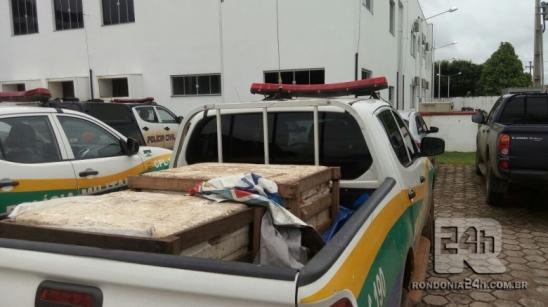 Polícia militar identifica pesca ilegal no Rio Jamari, em Monte Negro