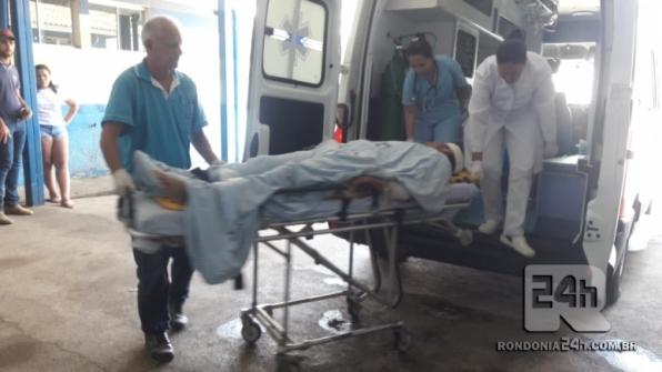 Jovem é baleado na frente da esposa em Monte Negro, RO
