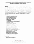 Comissão Especial divulga candidatos para escolha dos Conselheiros Tutelares de Monte Negro, em RO