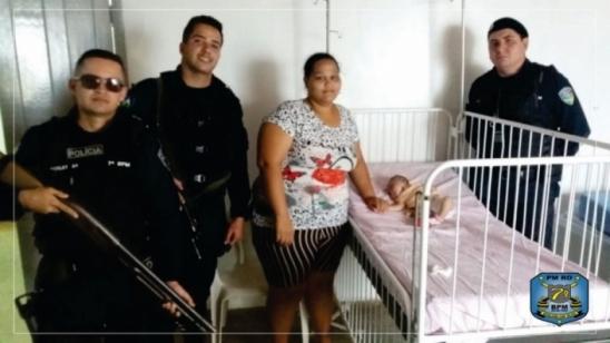 Policiais militares do 7º BPM salvam vida de bebê, em RO