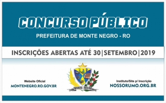 Prefeitura de Monte Negro atualiza valores do