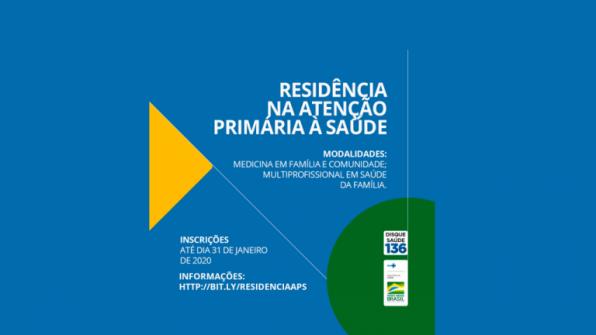 Inscrições para bolsas de residência em medicina da família vão até 31 de janeiro