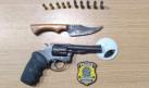 Ji-Paraná/RO, PRF prende casal por porte ilegal de arma de fogo