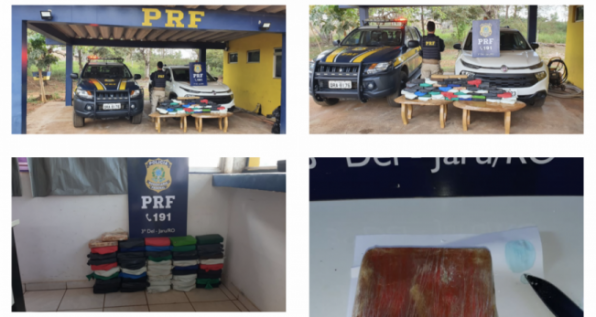 Nevou na Amazônia: PRF apreende carga de cocaína avaliada em mais de R$ 2 milhões em Jaru/RO